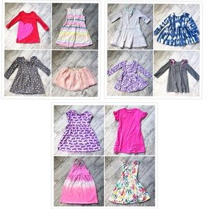 Girls 5T / XS 12 Piece Skirt and Dress Lot
